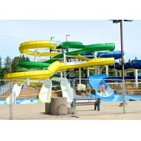 Buy cheap Amusement Park Spiral Water Slide 1.4 M Each Lane Raft Slide Glass Fiber Material product