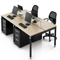 Buy cheap Customized Size Office Furniture Partitions / Wooden Modular Office Workstation product