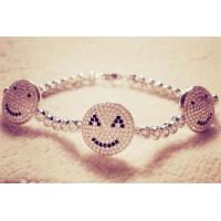 Buy cheap Kids Evil Eye Jewelry Three Smiling Face With Rhodium Plated Bracelet product