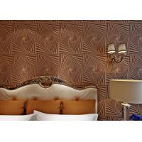 Non - Woven Brown Moistureproof Modern Removable Wallpaper With Dropping Beads
