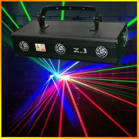 Buy cheap Three lens 700mW X-3 RGB Full Color Laser Light Pro Stage Lighting DJ Party indoor Entainment Effect Lights product