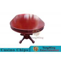 Quality 110 Inch Deluxe 10 Person Casino Poker Table With Customized Countertop Runway for sale