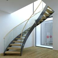 Buy cheap Best Selling Stainless Steel Modular Round Curved Stairs with Customized Service product