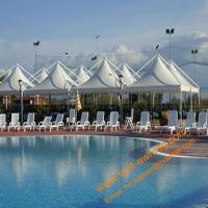Buy cheap Swimming Pool Tents, Powder Coated Steel or Aluminum 4x4m, 5x5m, 6x6m UV Resistance Gazebo Tent product