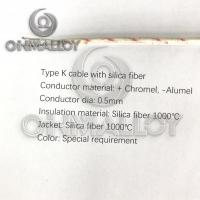 Buy cheap Silica Fiber 1000°C  Type K Thermocouple Cable 0.5mm Conductor product