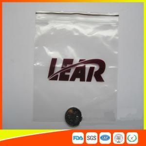 Buy cheap Les sacs zip-lock de poly emballage en plastique de PVC imperméabilisent rescellable avec la tirette product