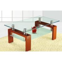 China Wood With Glass Coffee Table on sale