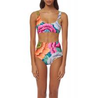 Buy cheap High Waisted Floral Printing Womens Swimming Suits Tie Knot  2 Pcs Sets Swimwear product
