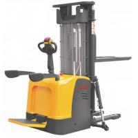 Buy cheap Stand On Electric Stacker Truck , Electric Lift Pallet Stacker Low Noise Operation product