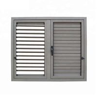 Buy cheap KLUK Aluminium Glass Louvers Window , Shutters With Integrated Blackout Blinds product