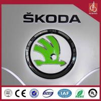 Buy cheap Round light metal light led car logo with their names for 4S stores product