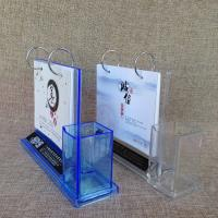 China Acrylic Plastic Desk Calendar Stand with Pen Holder on sale