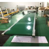 Buy cheap Automatic Industry Flat Green PVC Belt Conveyor Transfer Systems With CE Passed product