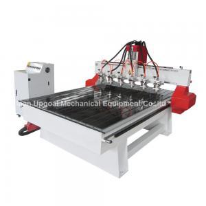 Quality Router de madeira do CNC do relevo de 6 cabeças do eixo com o servo motor de área de funcionamento de 1300*1800mm for sale