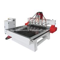 Quality 6 Spindle Heads Wood Relief CNC Router with 1300*1800mm Working Area Servo Motor for sale