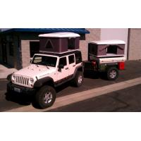 Buy cheap CE Approved Hard Shell Roof Top Tent , Jeep Wrangler Tents For Camping product