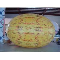 Quality Gaint Inflatable Melon Fruit Shaped Balloons UV Printing 4m Long for sale