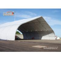 Buy cheap Outdoor Aluminum Curved Roof TFS Tent For Military And Hangar , Aluminum Structure Tent product
