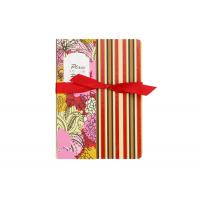 China Stripe Custom Printed Notebooks , Personalised Writing Journal Bookmark Bow Found on sale