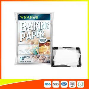 Buy cheap Waterproof Baking Paper Sheets / Non Toxic Parchment Paper Heat Resistant 20 * 30cm product