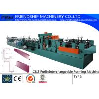 Buy cheap 415V C Z Purlin Roll Forming Machine For 80-300mm C&Z Steel Purlin product