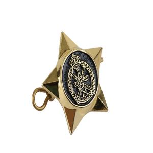 Buy cheap Military Hat Pin Button Metal Star Badge 60-90mm Brass Material product