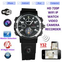 Buy cheap Y32 32GB 720P WIFI IP Spy Watch Camera Wireless Remote CCTV Video Monitor IR from wholesalers