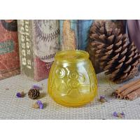 Buy cheap Custom Soda Lime Glass Candle Container For Home Decor , Yellow product