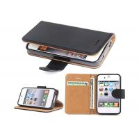 Buy cheap Black Slim Apple iphone Leather Case For Apple iPhone 4 4.8*2.7*0.9 Inches product
