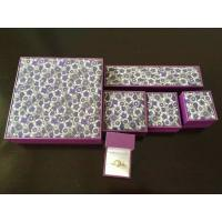 Buy cheap Classic Leatherette Earring Chain Jewellery Packaging Boxes With Gold Logo Printing from wholesalers