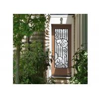 Buy cheap Distinctive Customization Wrought Iron Glass Door Inserts Excellent Climate Resistance product