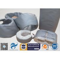 China High Temperature Grey Silicone Fiberglass Removable Thermal Insulation Covers , Flange Thermal Covers on sale