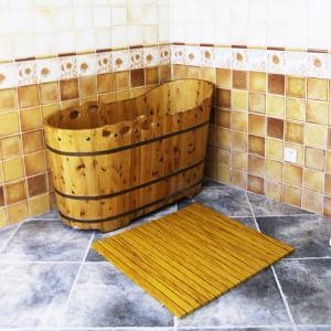 China Customized WPC Wood Shower Floor WPC Bathroom Decking 60cm x 40cm wholesale