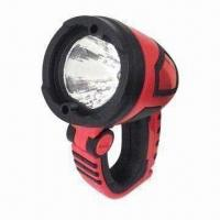 Buy cheap 3W rechargeable handheld spotlight, ABS housing, multifunction handle as hook or clamp product