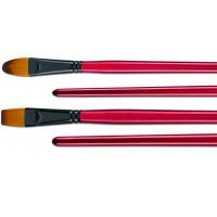 Buy cheap Filbert / Flat High End Artist Painting Brushes With Black Copper - Plated Ferrule product
