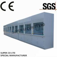 China Polypropylene Ducted Laboratory Chemical Fume Hood / Cupboard with PP Cup Sink for testing, lab use wholesale