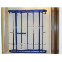 Buy cheap 780mm Depth Metal Revolving Clothing Rack, Lapidary Blue Custom Rotating Clothes from wholesalers