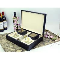 Buy cheap Arab style black wood perfume gift box packaging with 2 small boxes product