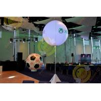Buy cheap 2.5m White Attractive Round Inflatable Helium Balloon with RGB LED Lighting product
