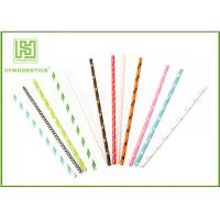 China Modern Fashion Party Paper Straws For Drinking Stirrering 10000pcs / Carton wholesale