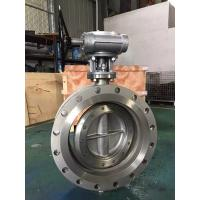 API609 Large Size Flanged Triple Offset double Butterfly Valve,Stainless Steel Flanged Triple Offset Butterfly Valve