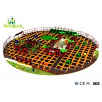 Buy cheap Large Amusement Indoor Trampoline Park Safe For Kids / Adult Long Life Span product