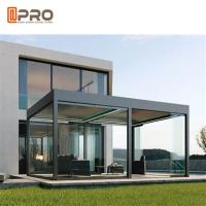 Buy cheap Luxury Morden Garden Pergola Aluminium Grape Trellis Outside With Retractable Sunshade Gazebos Canopy 3*3m product