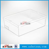 Buy cheap Hot sale clear transparent sport shoes sneaker acrylic display boxes product