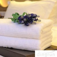 Buy cheap White Color Luxury Pure Cotton Bath Towels Home / Hotel Use Soft Touch Azo Free product
