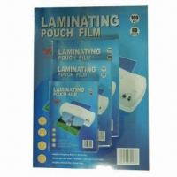 China PET lamination pouch film, 32 to 350 microns thickness, anti-altering on sale