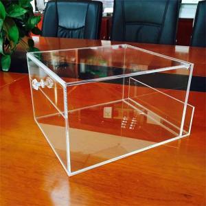 Quality custom handmade clear small acrylic box for sale
