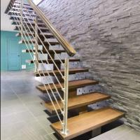 Buy cheap Modern floating stair Floating Wood stair with thick solid wood treads from wholesalers