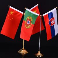 China SF High Resolution Printing Best Quality Best Price Full Color Print Two Flags Holder Indoor Flags wholesale