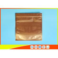 Buy cheap Plastic Zipper Coffee Packaging Bags , Three Layer Laminated Aluminium Bag For Tea product
